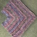 Childs poncho- Hand crocheted