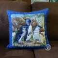 Australiana hand quilted  penguin cushion cover