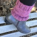 Rose Pink Knitted Boot cuffs