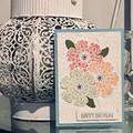 Birthday Handmade Card - Flower