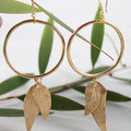 Rosa Leaf Hoop Earrings