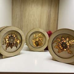 Sunflower Mini Lamp Set of 3  / Lightbox
