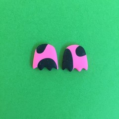 Mini Ghosts Studs - Pink Candy