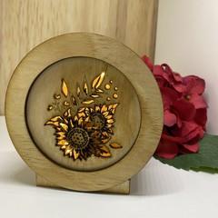 Sunflower 1 Mini Lamp / Lightbox