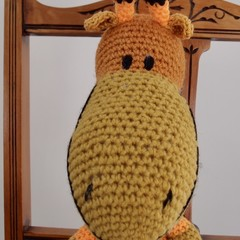 Garratt: Hand crocheted Giraffe by CuddleCorner: Soft, OOAK, Washable, unisex