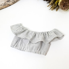 Girls Off The Shoulder Crop Top - Your Choice of Colour - Tween Boho Midriff