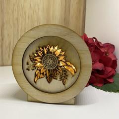 Sunflower 2 Mini Lamp / Lightbox
