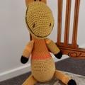 Garratt: Hand crocheted Giraffe by CuddleCorner: Soft, OOAK, Washable, unisex