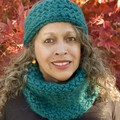 Knit Headband & Cowl Set - Emerald Green