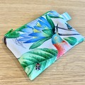 Coin Purse, small zipper pouch, botanical zipper pouch, medicine pouch, floral c