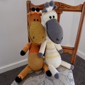 Griffin: Hand crocheted Giraffe by CuddleCorner: Soft, OOAK, Washable, Unisex