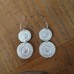 Recycled Silver ''Button' earrings