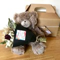 Cuddles Time - Gift box - Dried bouquet + Teddy - Baby shower, birthday, hamper