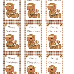 Merry Christmas Gingerbread Man9 x Gift Tags - Digital Download