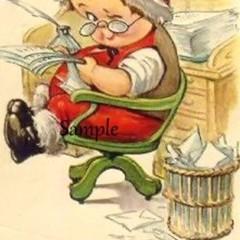 Vintage Christmas 9 x Gift Tags Santas Helper - Digital Download