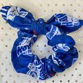 Large AFL North Melbourne bunny ear bow - scrunchies - women - children