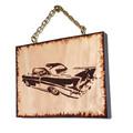 Hand Burnt Car Wall Hanging