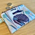 Coin Purse, small zipper purse, Kookaburra purse, Australian zipper pouch, bird