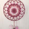 Raspberry Ripple dreamcatcher wallhanging
