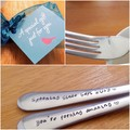 Custom Still Spooning Spoon, You're Forking Amazing Fork, Wedding Anniversary,