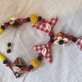 Fabric Multi-colour Necklace and earings