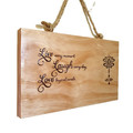 Live Laugh Love Wood Burnt Wall Hanging