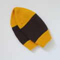 Brown and Yellow Gold Wool Hat