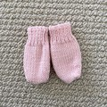 Pink  Mittens Size 6-12 months - hand knitted