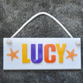 Personalised Hanging Name Board | You choose the colours