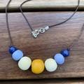 Sunny Daze: Handmade Clay Beaded Necklace