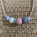 Soft Charm: Handmade Clay Beaded Necklace