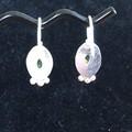 Peridot Silver earrings.