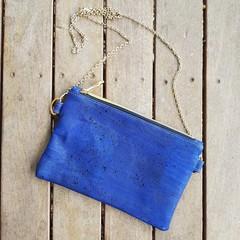 Denim blue shoulder bag