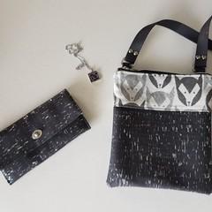 Monochrome Fox Bag