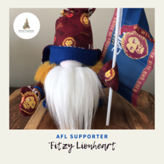 Nisse | Gnome:  'Fitzy Lionheart' | AFL |  28cm Tall