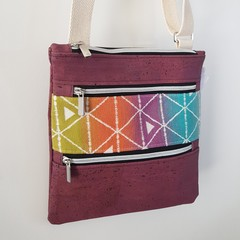 Rainbow mosaic crossbody bag