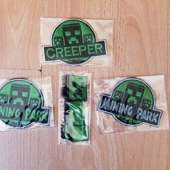 """Mining"" Iron-on Badges."