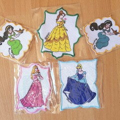 """Princess in Frame"" Iron-on Badges."