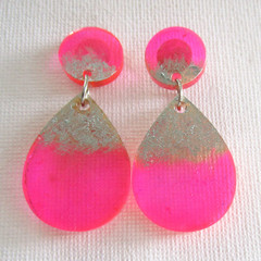 Resin Drop Earrings...Always Beautiful Trying a new Style!