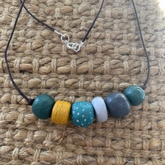 Forrest Envy: Handmade Clay Beaded Necklace