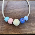 Subdued Summer: Handmade Clay Beaded Necklace