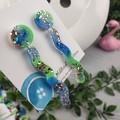 Tiffany Squiggle - Glittering - Drop Resin - Stud Dangle earrings