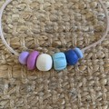 Pastel Pop: Handmade Clay Beaded Necklace