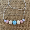 Pretty Pastels: Handmade Clay Beaded Necklace