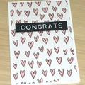 Engagement / Wedding /  Anniversary Card - heart print