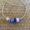Cotton Candy: Handmade Clay Beaded Necklace