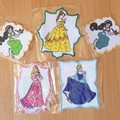 """""""Princess in Frame"""" Iron-on Badges."""