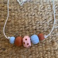 Terracotta Dreams: Handmade Clay Beaded Necklace