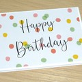 Happy Birthday card - confetti