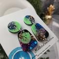 Tiffany Pebble - Glittering - Drop Resin - Stud Dangle earrings